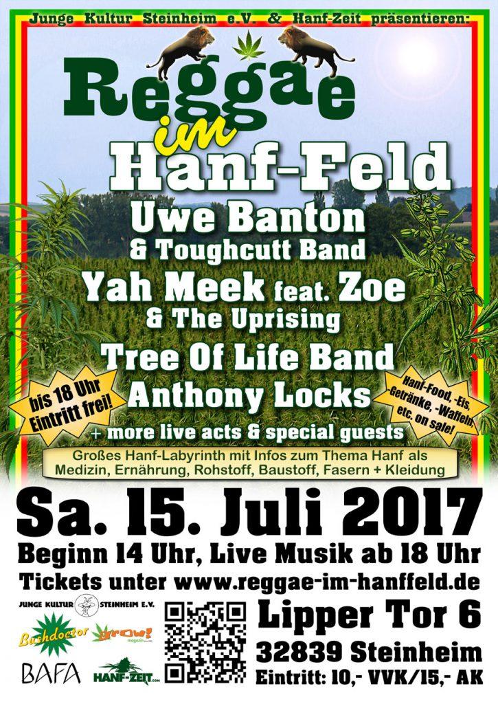 Reggae Im Hanf-Feld 2017 Flyer Web